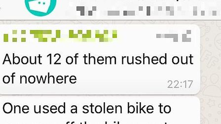 The drivers are alerting each other to the attacks in a WhatsApp group.