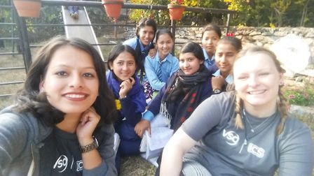 Melissa Cuss of Lowestoft spent Christmas Day volunteering on a project in Nepal. Picture: Courtesy