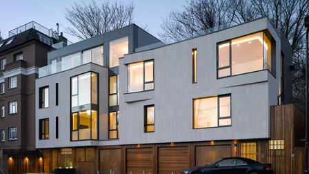 The infil project on Nutley Terrace created two houses over what was once just garages