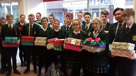 Students from Saint Felix School in Reydon have donated boxes, clothes and bedding to Access Communi