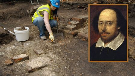 Shakespeare's Curtain Theatre foundations are unearthed in Shoreditch back in 2008. Today, they are