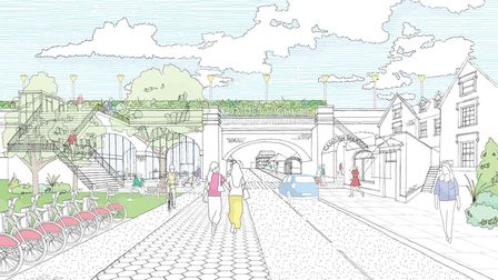 Plans to turn a disused stretch of railway into a public park stretching from Camden to the King's C