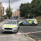 The scene in Stoke Newington Church Street following a stabbing on Thursday afternoon. Picture: Matt