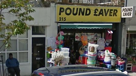 Uddin sold the knife to a child at Pound Saver in Well Street. Picture: Google Maps