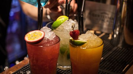 A file image of cocktails being poured at Zigfrid von Underbelly in Hoxton Square. Picture: Voist Lt