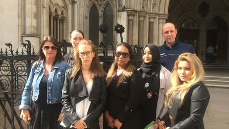 Chalcots residents group outside the Royal Courts of Justice after Monday's ruling