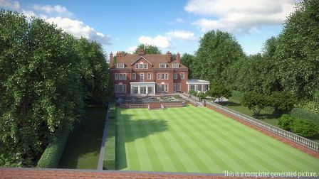 The potential new mansion could measure c.17,000 sq ft behind the original Edwardian façade