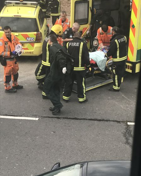 A man in his 50s was taken to an east London hospital after the explosion in Swains Lane but later d