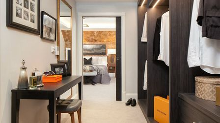The master bedroom comes with a bespoke fitted walk in wardrobe