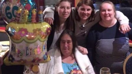 Heather with her family on her 60th birthday. Picture: Pyke family