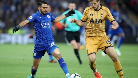 Leicester City's Riyad Mahrez (left) and Tottenham Hotspur's Eric Dier battle for the ball (pic: Nic