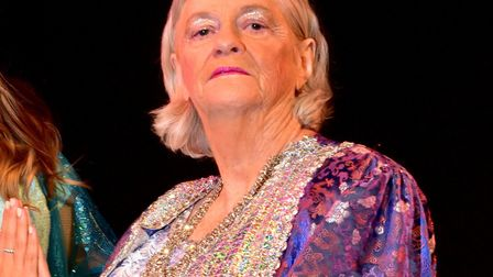 Ann Widdecombe as the Empress of China in Lowestoft's Aladdin pantomime. Picture: Nick Butcher.