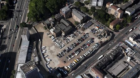 The site where Paddington Green will be built is at present a disused temporary car park