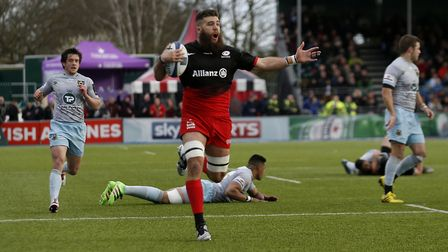 Saracens forward Will Fraser has been forced to retire because of a neck injury (pic: Paul Harding/P