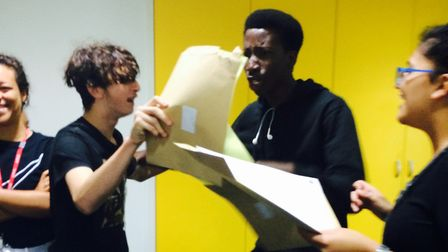 Pupils at Mossbourne Academy are delighted with their GCSE results. Picture: Emma Bartholomew