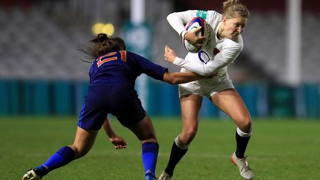 England's Emily Scott competes against France's Camille Cabalou at Twickenham Stoop (pic Adam Davy/P