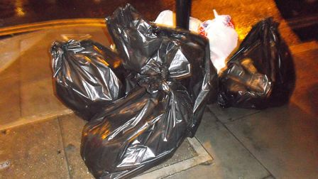 It's not known if the culprits knew they were dumping the bags in a different borough. Picture: Hack