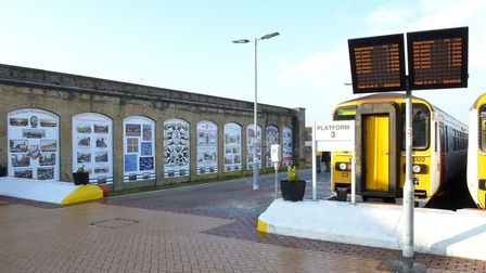 The Lowestoft Station arches project is unveiled. Pictures: MICK HOWES