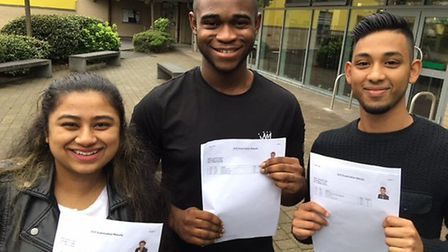 Students at City Academy Hackney collecting their A-level results. Credit: Polly Hancock
