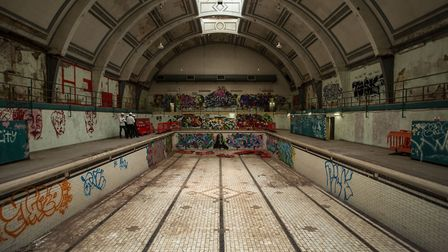 'The sadly neglected Haggerston Baths, currently up for much-needed regeneration.' Picture: Simon Mo