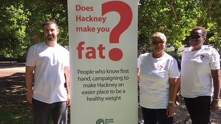 The Does Hackney Make You Fat? team at London Fields today.