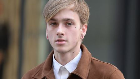 Charlie Alliston, 20, arrives at the Old Bailey on Monday morning, where he is accused of running ov