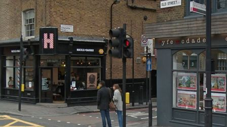 Tragedy: The scene of the crash in Old Street, pictured in a file image (Picture: Google StreetView)