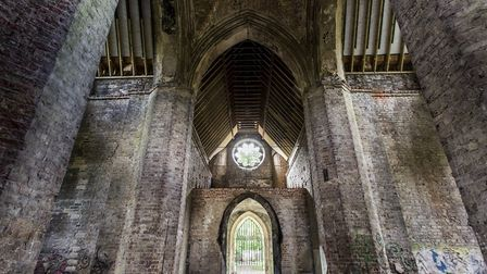 The inside of the restored Abney Park Chapel. Picture: Sean Pollock