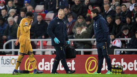 Tottenham Hotspur's Danny Rose appears dejected as he is substituted with an injury during the Premi