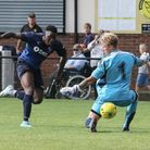 Action from Wingate's clash at Merstham (pic Martin Addison)