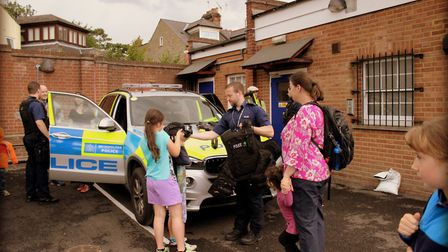 Mums, dads and children visited Hornsey Police Station's open day, finding out about the day to day