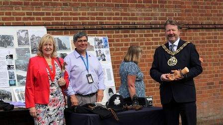 Mayor of Haringey Cllr Stephen Mann visited Hornsey Polcie Station's open day on Saturday. Picture: