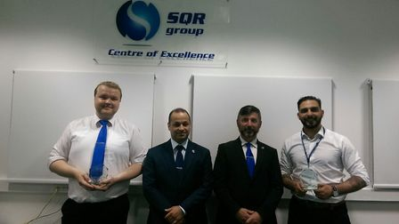 Marius Asteika (left) and Emilio Garcia were recognised for their heroic actions Picture: SQR