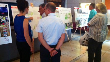 The public view the final plans for Hornsey Town Hall ahead of the planning application being submit