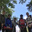 The students hiking from Inverness to the peak of Ben Nevis. Left to right: Harry Morrison, Marley S