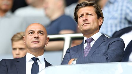Crystal Palace chairman Steve Parish (right) and Tottenham Hotspur chairman Daniel Levy in the stand