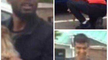 The met police would like to speak to these three men in relation to a missing dog. Picture: Met Pol