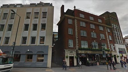 The 3 metre wide alleyway in Marylebone where the infill project will sit. Photo: Google Maps