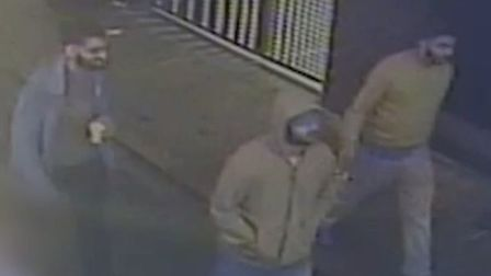 Police want to speak to these men over the stabbing in Rivington Street.