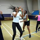 An Access to Sports 'Girls Get Active' summer camp dance and cheerleading session at Stoke Newington