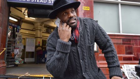 Boxer Dereck Chisora near his home in Hampstead. He has been cleared of a charge of assault.