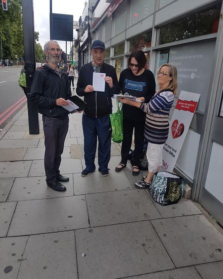 CWU activists gather signatures pledging to boycott Rizwan Salahuddin's stationery products in the e