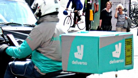 A Deliveroo driver. Picture: Kevin Jones (CC BY 2.0)