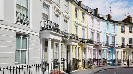 The pretty pastels of period homes in Primrose Hill are always popular