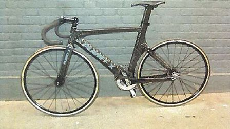 The fixed-gear track bicycle being ridden by Charlie Alliston when he collided with 44-year-old Kim