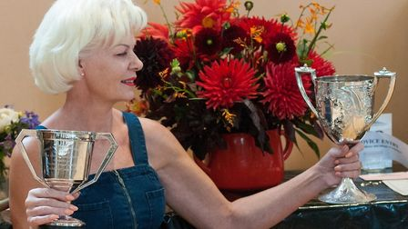 Jeanne Willis at the Highgate Flower Show