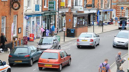 Southwold Town Council and other authorities want to resolve the town's current parking issues. Pict