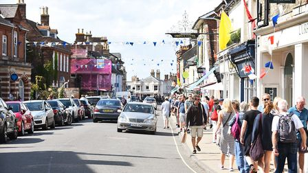 The High Street in Southwold on a typically busy summer's day. Picture: James Bass