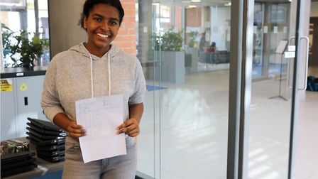 Alisha O'Brien-Coker was delighted with her GCSE's results which included a 9 in English Picture: Sa