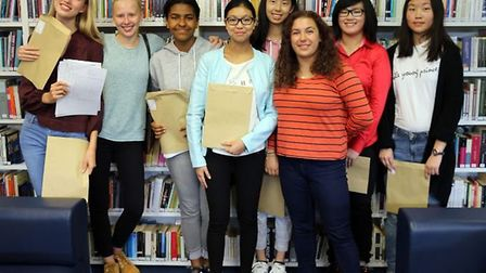 Students at South Hampstead High School were over the moon with their GCSE's Picture: Sara Bell